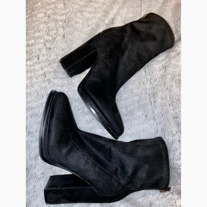 Chunky heeled black booties from Guess!